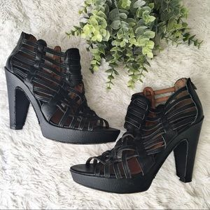 Lucky Brand Persia Leather Caged Heeled Shoes